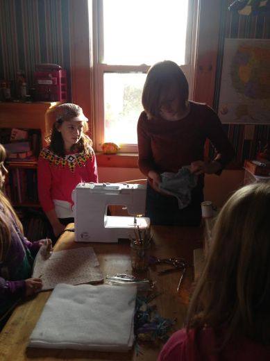 Sewing station helpers