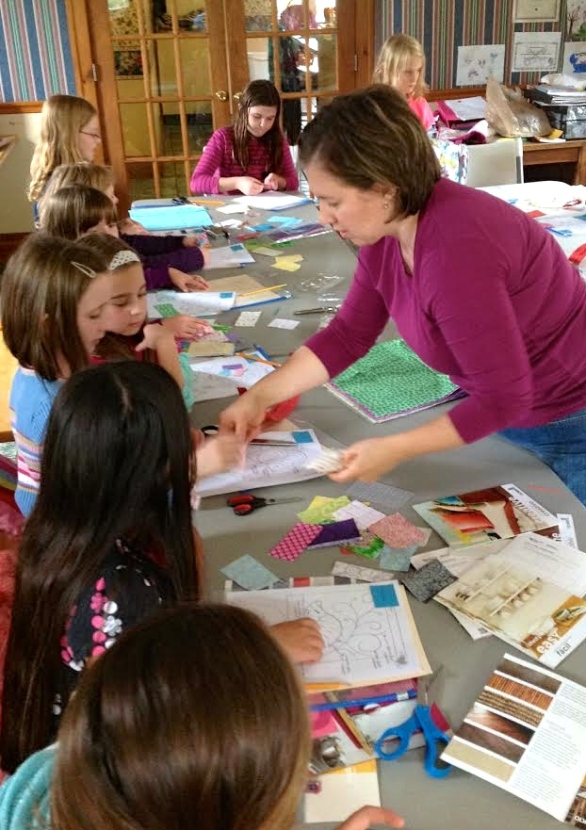 Learning about colors, textures and storytelling through quilting.